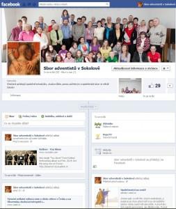 Profil sboru na sociální síti Facebook