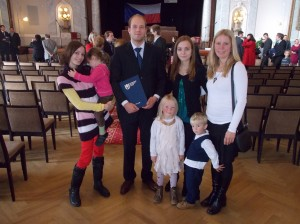 dcera Jana s dětmi a vnučkou
