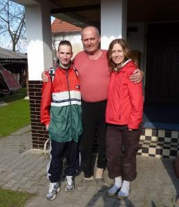 s Járou Novým a dcerou Hanou