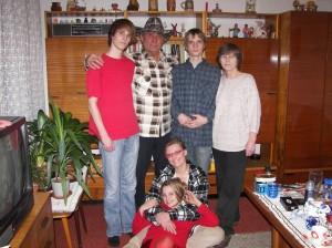s manželkou a rodinou Ivanky