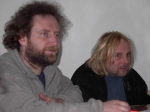 Valná hromada Pohlazení v roce 2002 - zleva Jiří Bauer a Petr Procházka
