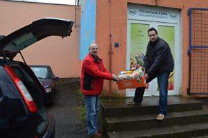 Výdej z potravinové banky