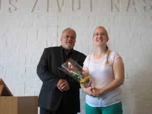 Bohouš Zámečník s Hanou Polákovou